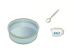 塩湯の作り方
