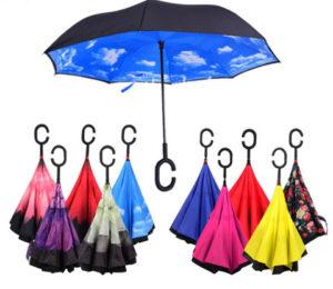 色々な色がある逆さ傘