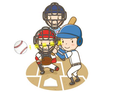 野球の試合でボールがよく見えているバッター