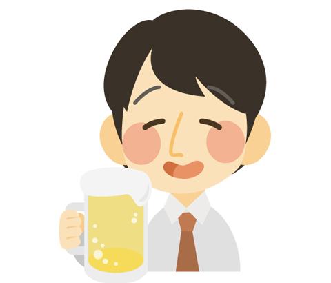 お酒を飲んでいる人