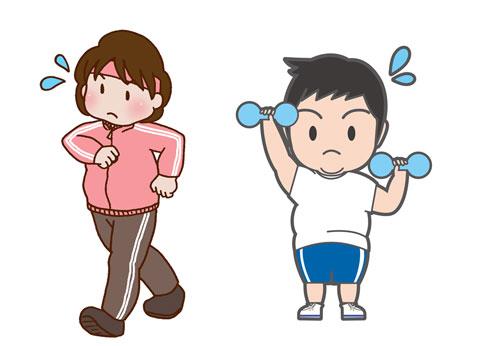 運動をして汗をかいている人