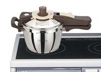 IH調理器具の上のワンダーシェフ圧力鍋魔法のクイック料理(エスプレッソスリッタ)