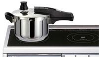 ワンダーシェフ圧力鍋ネオロタ(NEO RO:TA)をIH調理器具の上に置いたところ