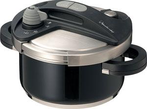 ワンダーシェフ圧力鍋3.5L黒