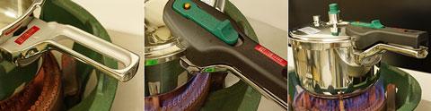 ワンダーシェフ圧力鍋プロの取っ手の部分の構造