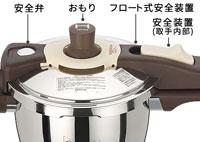 ワンダーシェフ圧力鍋魔法のクイック料理(エスプレッソスリッタ)各種安全装置
