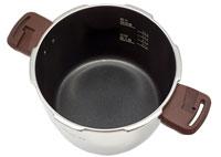 ワンダーシェフ圧力鍋魔法のクイック料理(エスプレッソスリッタ)内側のフッ素樹脂加工