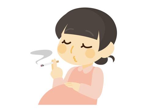 喫煙している妊婦