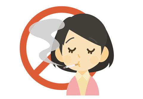 禁煙しようと思っている女性