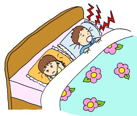 旦那のいびきがうるさくて眠れない嫁
