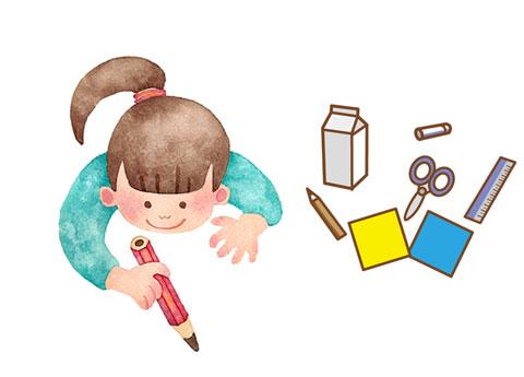 子供が使っている鉛筆