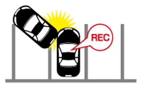 駐車録画時の衝撃感知
