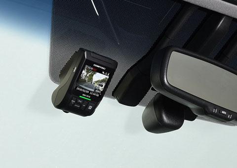 HDR-751Gを車に設置したときの画面の見え方