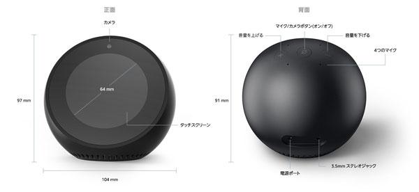 Amazon Echo Spotのスイッチの位置