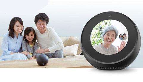 Amazon Echo Spotを使って田舎のお婆さんとテレビ電話している家族