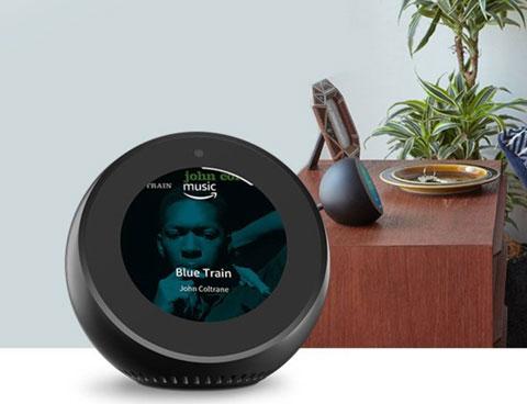 Amazon Echo Spotで音楽を聴いているところ