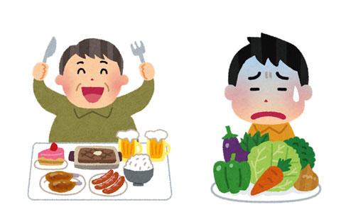 肉食中心から野菜中心の食事に変えた人