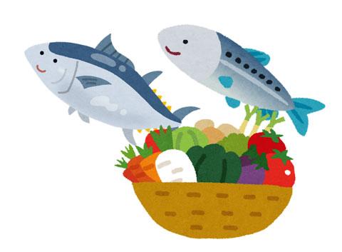 加齢黄斑変性の予防に効果のある魚や緑黄色野菜
