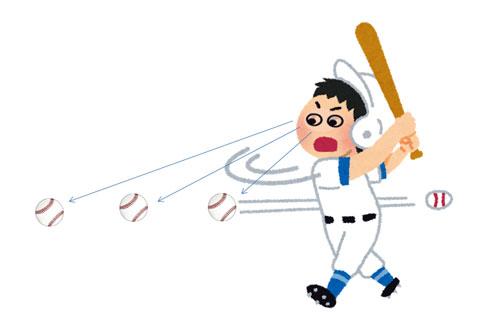 スポーツビジョンの能力が低くてバットにボールが当たらない人