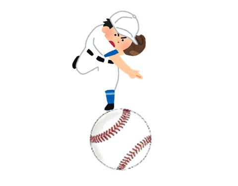 投手の投げたボール