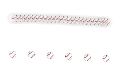 目で処理しているボールの軌跡
