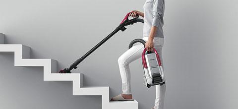EC-AP500は階段のお掃除も楽々