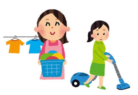 掃除と洗濯